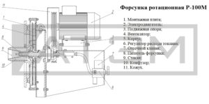 Форсунка ротационная Р-100М