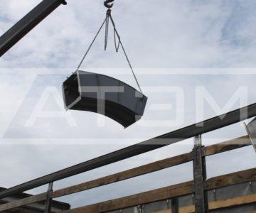 Погрузка поворотной секции транспортёра ШЗУ