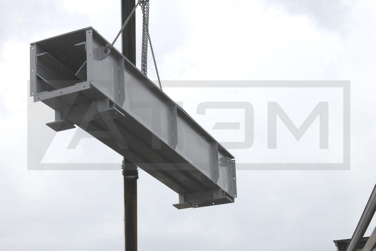 Погрузка прямой секции транспортёра ШЗУ (2)