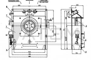 Общий вид короба горелок РМГ-1 и РМГ-2