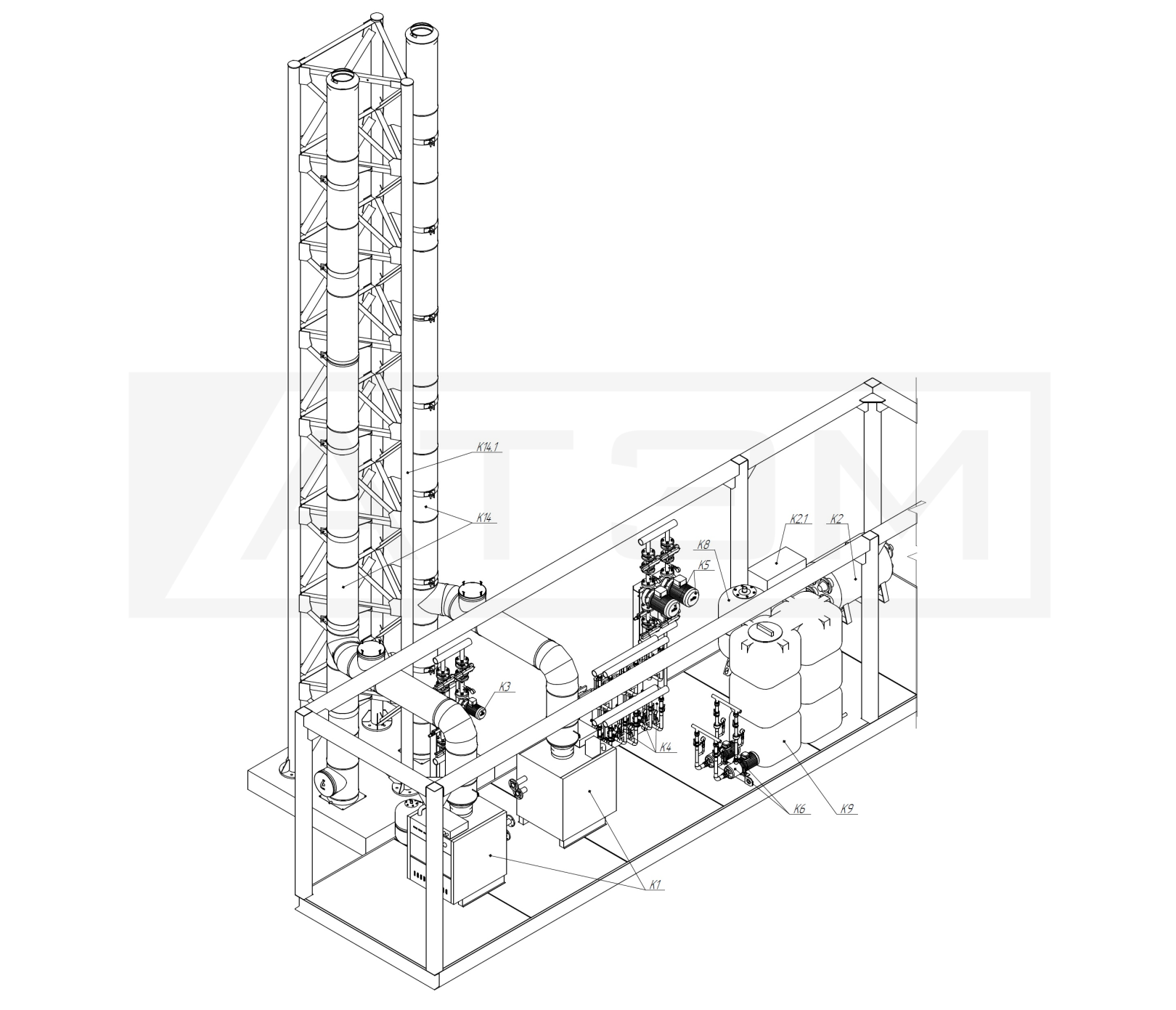 Газоходы. МКУ-0,4 (2хКВа-0,2)
