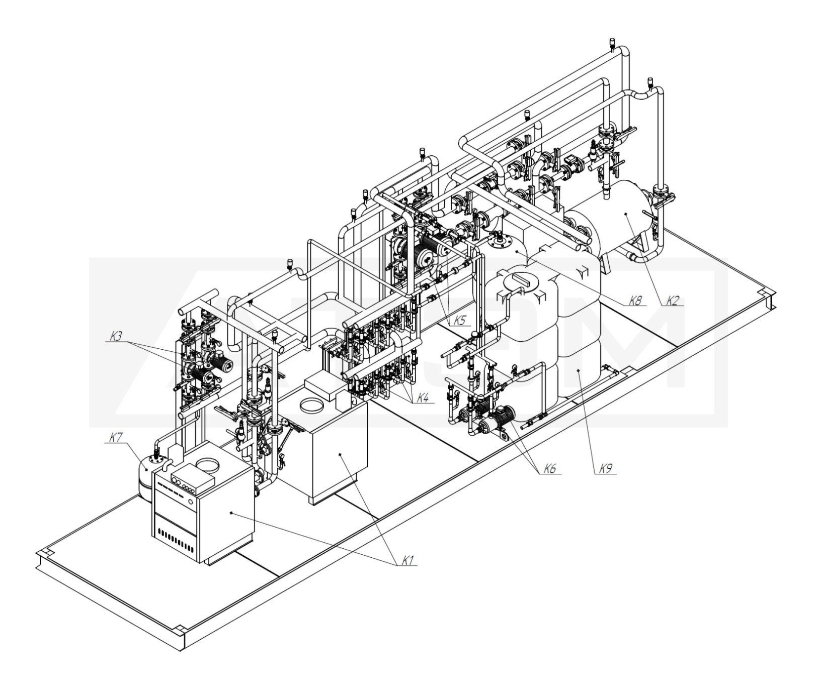 Трубопроводы. МКУ-0,4 (2хКВа-0,2)